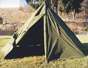 Image is loading Genuine-Army-Surplus-2-MAN-CANVAS-TEEPEE-TENT- & Genuine Army Surplus 2 MAN CANVAS TEEPEE TENT Rain Ponchos ...