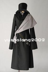 Image Is Loading Kuroshitsuji Ciel Black Butler Undertaker Shinigami Cosplay Kostum