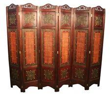 Asian Home Vintage Oriental Style 6 Panels Screen Room Divider eBay