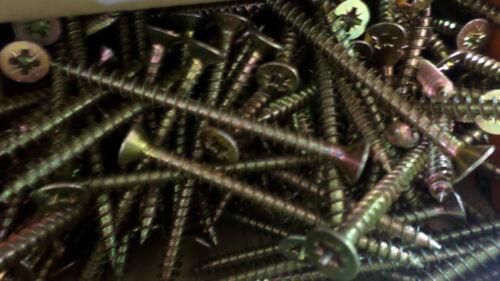 200 x 60mm 4.5 Woodscrews Zinc Passivated Wax Threaded Countersunk #6E75