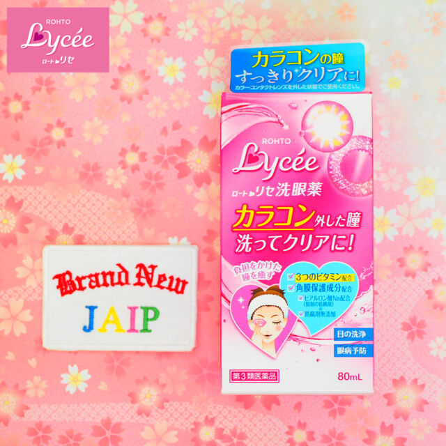 ROHTO☆Japan-Eye Wash Liquid Lycee 80mL.