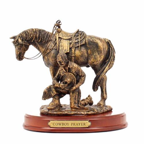 Western moments Statue Cheval /& à genoux COWBOY PRAYER 59104