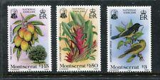 Montserrat 551-553 MNH Orange plants Flowers  Birds 1985:  x17517