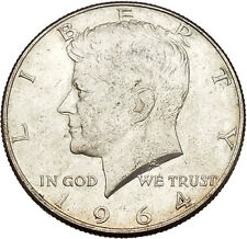 President John F. Kennedy 1964 Silver Half Dollar United States USA Coin i41998