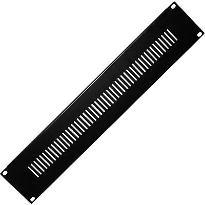 "Quality 19"" 2u Vented Blanking Rack Patch Panel–module Cover Plate Mount–equipment Case Superior In"