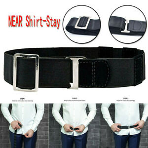 Adjustable-Near-Shirt-Stay-Best-Tuck-It-Belt-Shirt-Tucked-Men-Shirt-Stay-Black