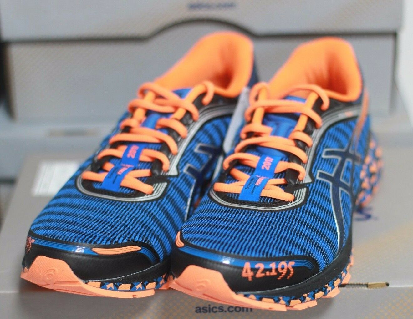 ASICS New Men's DynaFlyte PARIS Road Running Shoes Blue Limited - Authentic