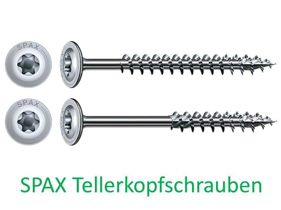 ABC Spax Tellerkopfschrauben Wirox T-Star plus 6 x 60 - 8 x 360 mm versch.Mengen