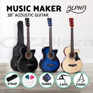 Alpha-38-Inch-Acoustic-Guitar-Classical-Wooden-Folk-Cutaway-Steel-String-Bag