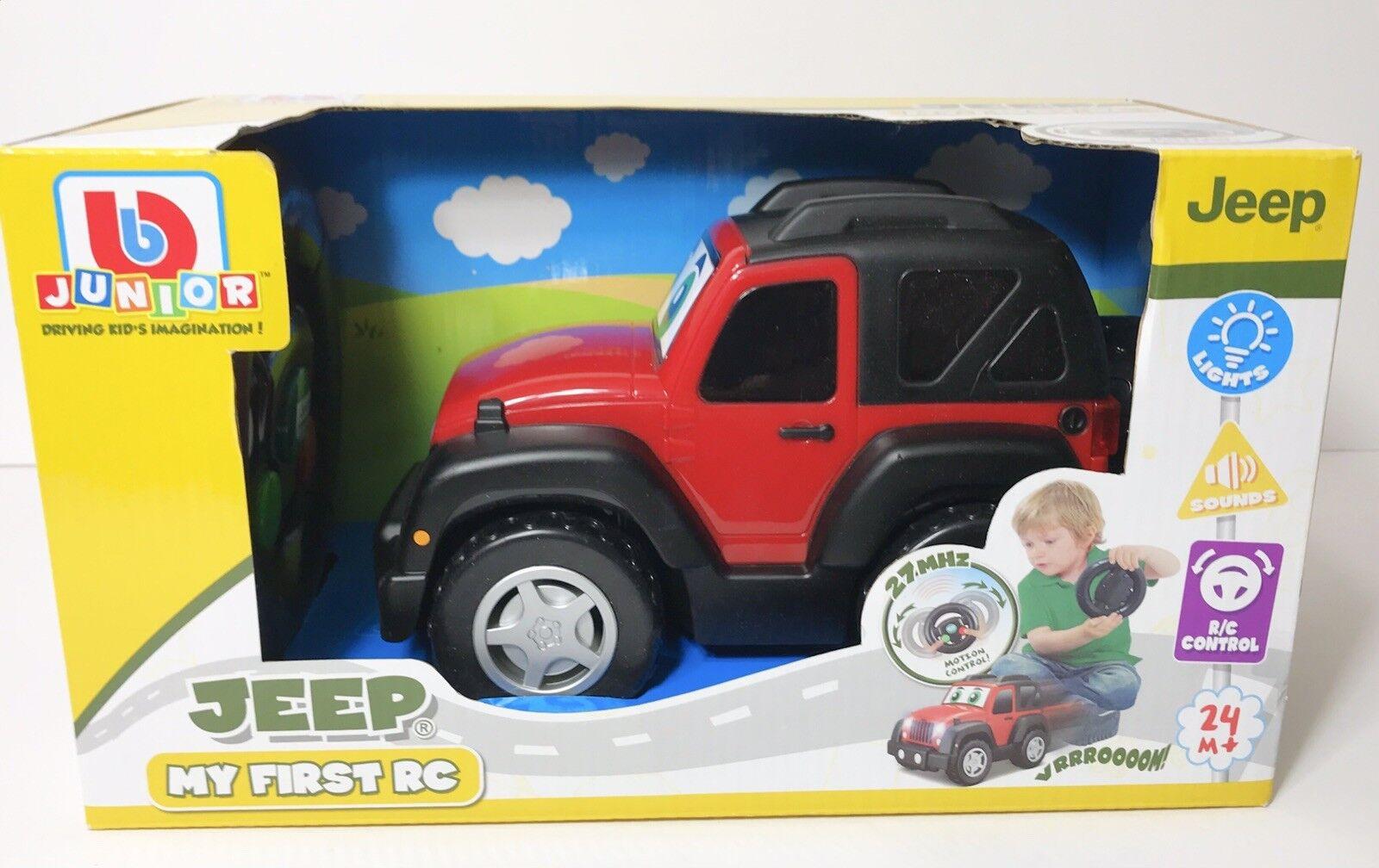 Jeep My  primero R C Jeep Wrangler Vehicle BB Junior rosso  grande vendita
