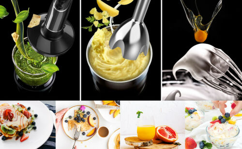KOIOS Smart Electric 4-in-1 Hand Immersion Blender with 12-Speed Stick NEW