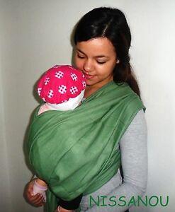 NISSANOU porte bébé ECHARPE DE PORTAGE neuve   sauge   idée cadeau ... 96c6694f9d3