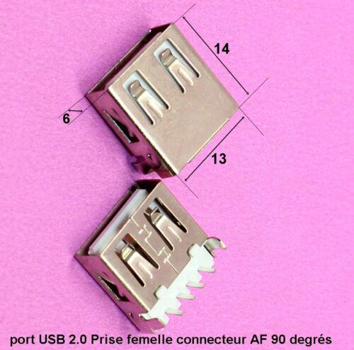 port USB 2.0 Prise femelle connecteur interface AF 90 degrés  .C64.3