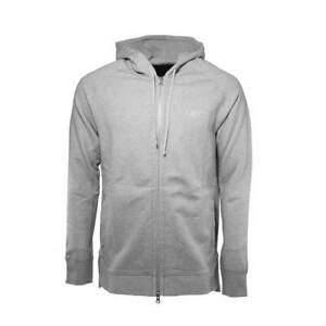 Details about Asics Knit Zip Up Grey Cotton Mens Training Hooded Jumper 16002 0098 A15B