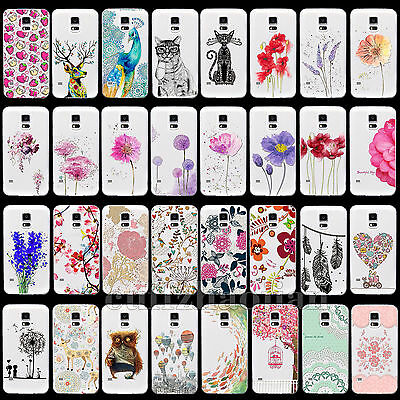 For Samsung Galaxy S4 S5 Protector New Thin Transparent TPU Soft Skin Case Cover