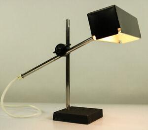 Max-Bietenholz-Kubus-Tisch-Lampe-Techniker-Leuchte-Buente-amp-Remmler-60er-Jahre