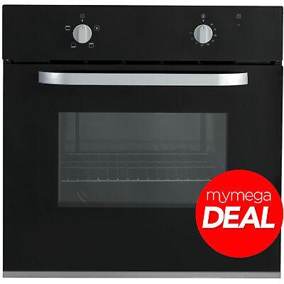 MyAppliances REF28736 60cm 70L XXL Black Built-in Single Electric Oven