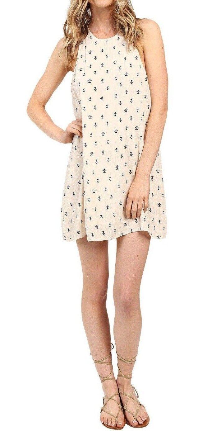 Billabong WILD SKY White Cap All Over Print High-Low (D) Junior's Mini Dress