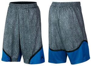 93d9b20c13f Nike Air Jordan Retro 3 Elephant Shorts Cement/Sport Blue Men's ...