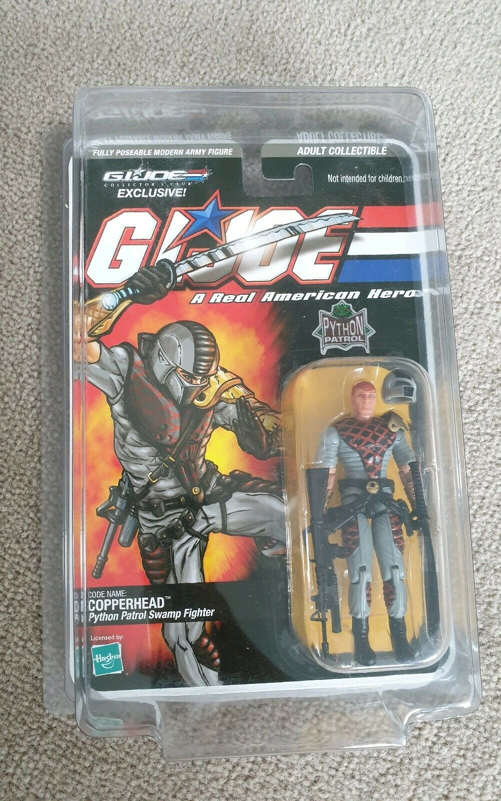 GI Joe collectors club copperhead python patrol swamp fighter