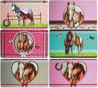 1 Frühstücksbrettchen Pferde Brettchen 23x14cm Pferd Pony Fohlen Brett neu