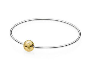 e91cff659 Image is loading Genuine-PANDORA-Essence-Collection-Bangle-with-14K-Gold-
