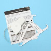 Body Fat Caliper Measuring Tape Tester Fitness Weight Loss Calculator Analyzer