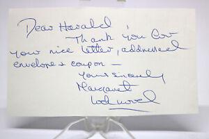 Original Autogramm Autograph MARGARET LOCKWOOD