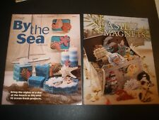 By The Sea Ocean Magnet Mobile Valance Tie Back Coasters Plastic Canvas Pattern