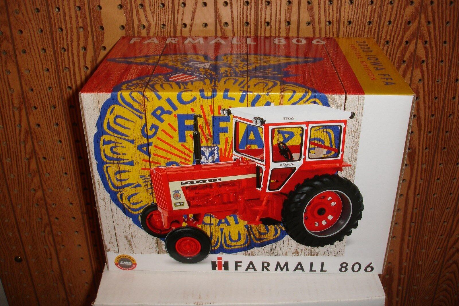 1 16 farmall  806 with hinerker cab iowa ffa