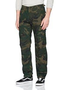miglior prezzo per pensieri su di modo attraente Dettagli su Carhartt Aviation, Pantaloni Uomo con tasconi, colore mimetico  Camo Combat Green