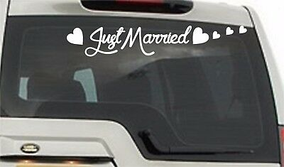 CGSignLab 30x20 Just Married Pastel Perforated Window Decal