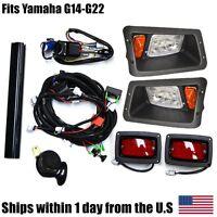 Yamaha G14 G16 G19 G22 Golf Cart Street Legal All Led Headlight Tail Light Kit on sale