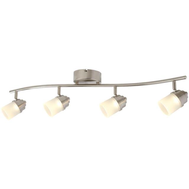 hot sale online 08073 07a74 Hampton Bay 2.6 ft. 4-Light Brushed Nickel Integrated LED Track Lighting Kit