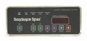 Sundance-Jacuzzi-Spas-Topside-Panel-750-CONTROL-1-Pump-Part-no-6600-710