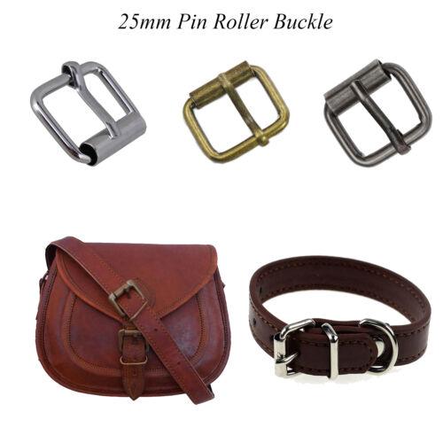Pin de hardware de rodillos de metal de 25mm Hebilla de cinturón para bolso de mano /& accesorios de vestir
