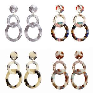 Acrylic-Geometric-Hollow-Round-Long-Drop-Dangle-Earrings-Women-Statement-Jewelry