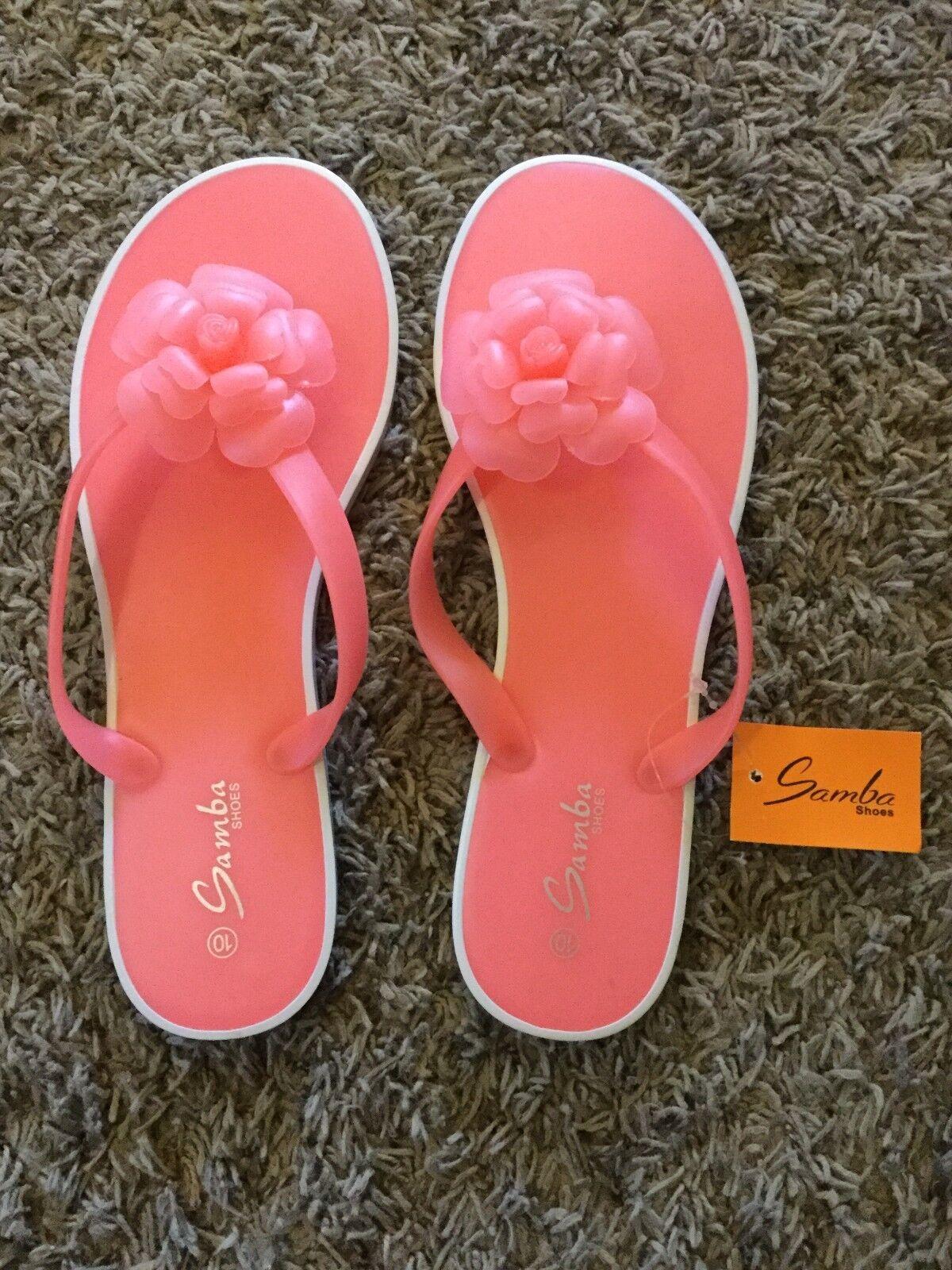 Samba Shoes - Flip Flops Size 10 - Shoes Coral Color c0d104