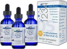 1234 Diet Drops Dietary Bioscience Supplement: Design the New You! 3 BOTTLES New