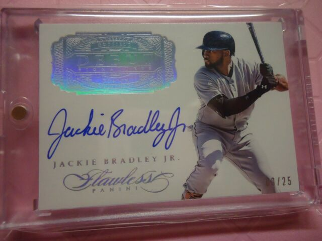 2017 flawless JACKIE BRADLEY JR. BOSTON RED SOX ON CARD AUTO RARE 9/25 IN HOLDER