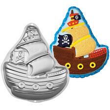 Wilton Baking Pirate Ship Boat Cake Pan Tin Birthday Celebration NEW
