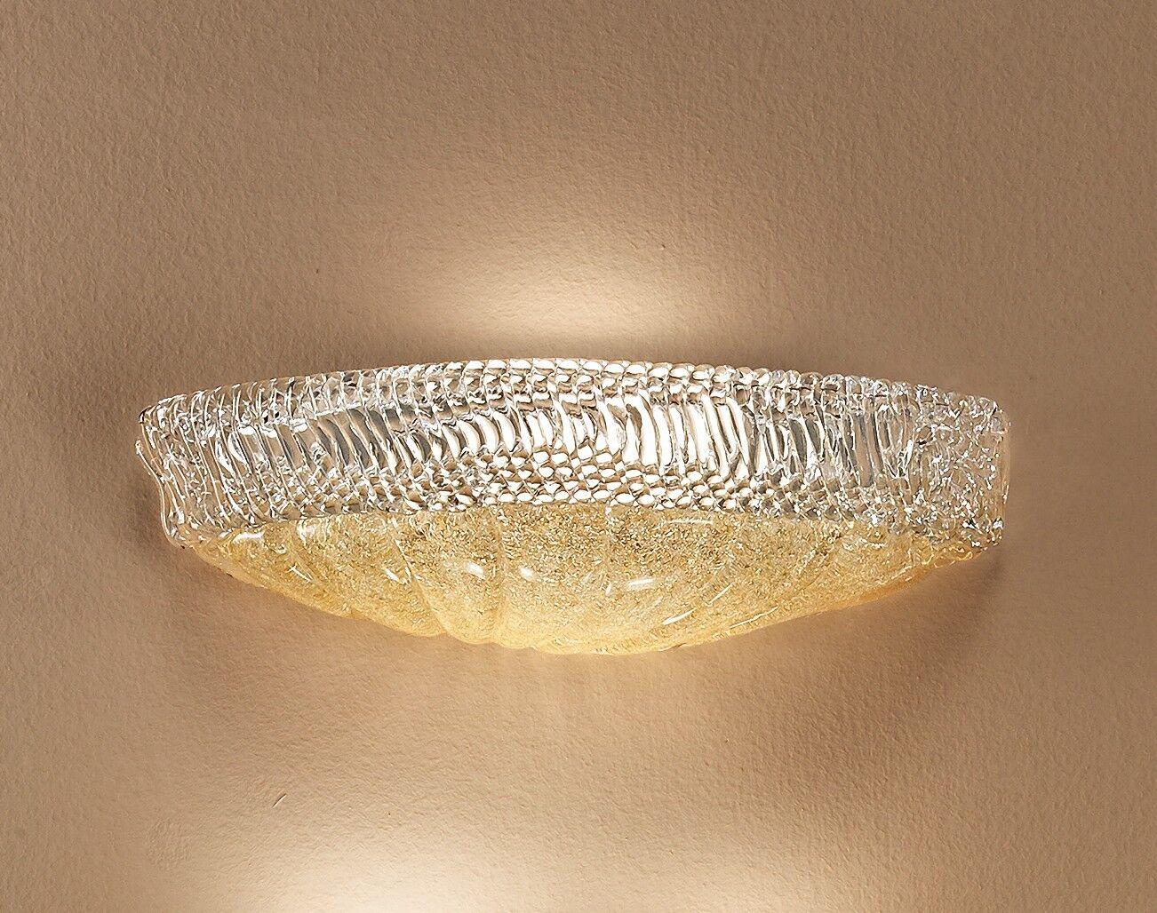 Applique lampada parete design classico elegante vetro artistico
