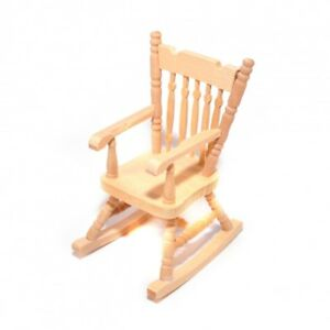 Image Is Loading Dollhouse Miniature Unfinished Rocking Chair 1 12 Scale