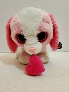 Ty Beanie Boos Cookie Puppy Dog Heart Small Plush Pre-Owned