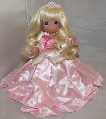 "Disney CLASSIC SLEEPING BEAUTY IN PINK WAVY HAIR Precious Moments Doll 12/"""