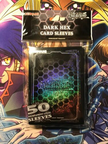Protège-cartes Yu-Gi-Oh Sleeves x50 KONAMI Dark Hex