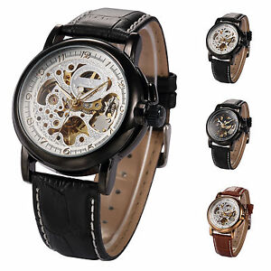 Classic-KS-Automatic-Mechanical-Skeleton-Leather-Strap-Business-Mens-Wrist-Watch