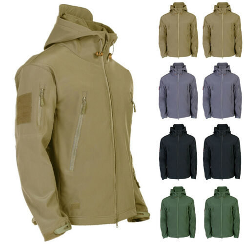 Waterproof Winter Mens Outdoor Jacket Tactical Coat Soft Shell Military JackeEZY