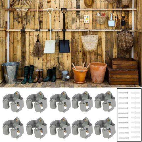 5X 10X Gerätehalter Besenhalter Werkzeughalter Schiene Werkzeugwände Wandhalter
