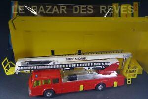 CORGI-TOYS-GB-Camion-de-pompiers-SIMON-SNORKEL-DENNIS-REF-1126-Boite